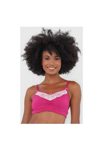 Top Love Secret Lingerie Renda Pink