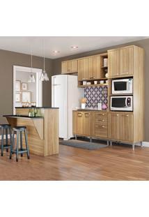 Cozinha Compacta Sem Tampo 11 Portas 3 Gavetas 5843 Argila - Multimóveis