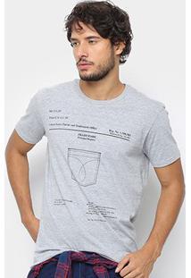 Camiseta Calvin Klein Estampada Masculina - Masculino-Mescla