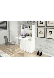 Armário Multiuso Tecno Mobili Com Mesa Retrátil-Branco - Multistock