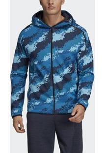 Blusa Capuz Estampa Adidas Z.N.E. Fast Release Adidas - Masculino-Azul