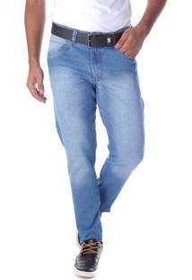 Calça 2211 Jeans Azul Claro Traymon Modelagem Slim