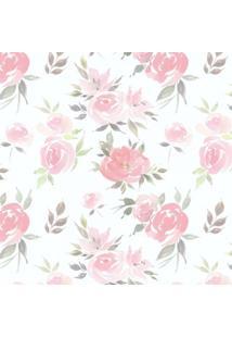 Papel De Parede Stickdecor Adesivo Floral Watercolor 100Cm L X 300Cm A - Rosa - Dafiti