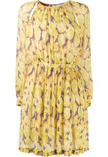 Missoni Vestido Com Estampa Floral De Seda - Amarelo