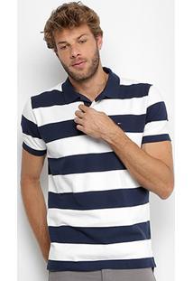 Camisa Polo Tommy Hilfiger Listrada Masculina - Masculino