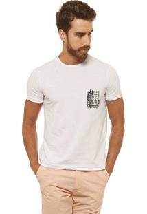Camiseta Joss - Surf Flor Folha - Masculina - Masculino-Branco