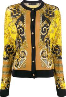 Versace Baroque Pattern Cardigan - Amarelo