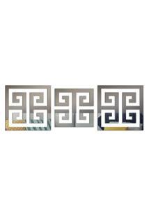 Espelho Love Decor Decorativo Kit Ladrilho Abstrato Único