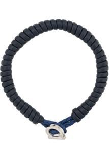 Salvatore Ferragamo Bracelete Gancini - Azul