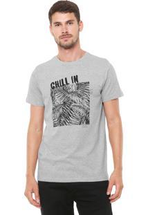 Camiseta Yachtsman Manga Curta Estampada Cinza