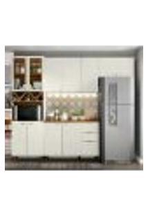 Cozinha Modulada 4 Peças 100% Mdf Essencia 4 Areia Nature Henn