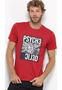 Camiseta All Free Estampada Masculina - Masculino-Vermelho