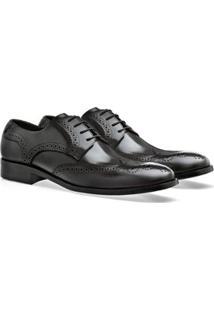 Sapato Social Brogan Eccellenza Fano Masculino - Masculino-Preto