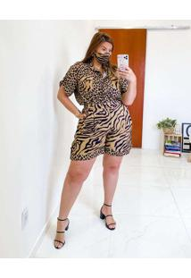 Bermuda Almaria Plus Size Miss Taylor Animal Print