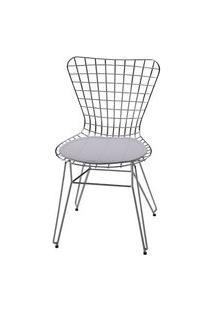 Cadeira Jacobsen Aramada Cromada Branco - 12342 Branco