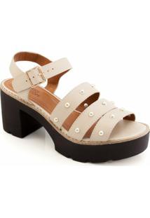 Sandalia Tratorada Sapato Show 12811 - Feminino-Branco