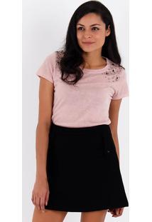 Camiseta Com Pedrarias Feminina Acrobat - Rosa