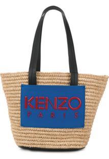 Kenzo Bolsa Tote Com Logo - Neutro