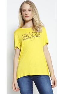 Camiseta ''I'M A Woman''- Amarela & Vermelha- Colccicolcci