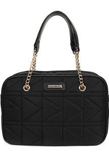Bolsa Queens Mini Bag Matelassê Feminina - Feminino-Preto