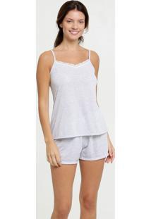 Pijama Feminino Mescla Alças Finas Marisa