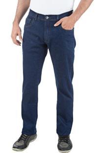 Calça Jeans Masculina Azul Com Elastano Upper - 46