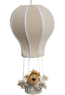 Lustre Balão Cintura Floresta Quarto Bebê Infantil Menina Menino Potinho De Mel Bege