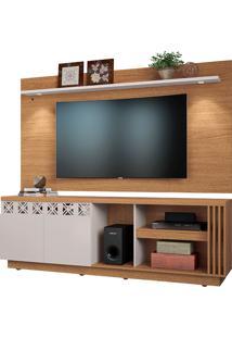 Rack Com Painel Para Tv De Até 65'' Polegadas – Colibri - Natural Real / Off White