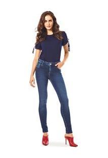 c947c4a8d R$ 399,90. Morena Rosa Calca Slim Isabelli Cos Alto Escura Jeans