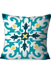 Capa De Almofada Avulsa Decorativa Mandala Color 45X45Cm