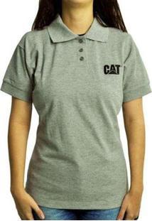 Camisa Polo Caterpillar Cat Feminina - Unissex