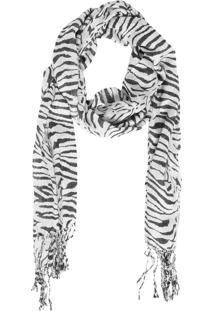 Echarpe Fiveblu Zebra Branco/Preto