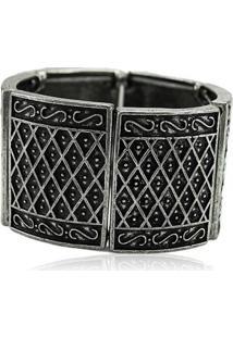 Bracelete Blanc Perle Acessórios Boho Prata Velho