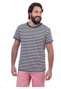 Camiseta Limits Listrado Coruja Rj