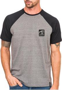 Camiseta Urza Urso Raglan Cinza