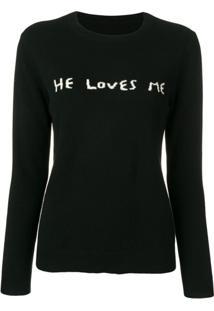Chinti & Parker Suéter He Loves Me - Preto