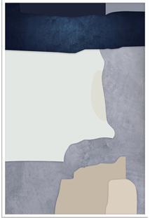 Quadro 90X60Cm Abstrato Geomã©Trico Oriental Malko Moldura Branca Com Vidro - Multicolorido - Dafiti