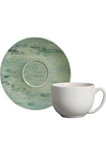 Conjunto De Xícaras Coup Botânica Para Chá Em Cerâmica 260 Ml Com 06 Peças - Porto Brasil