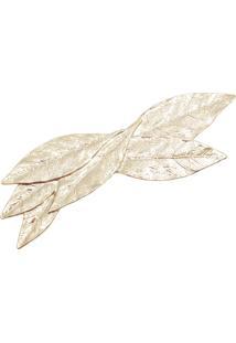 Presilha Folhas - Dourado