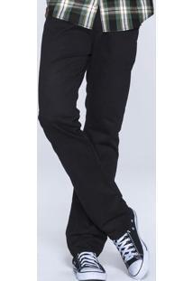 Calça Masculina Básica Em Sarja Na Modelagem Regular