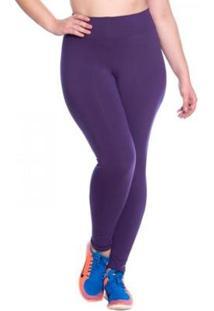 Legging Longa Espotiva Marcyn Fitness Plus Size - Feminino-Roxo