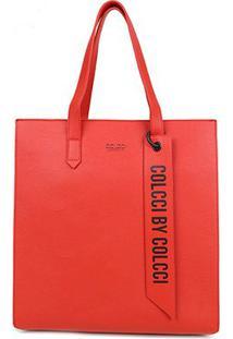 Bolsa Colcci Shopper Charm Feminina - Feminino-Vermelho