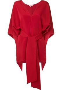 Layeur Blusa Com Amarração - Vermelho