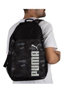 Mochila Puma Style - 24 Litros - Preto/Branco