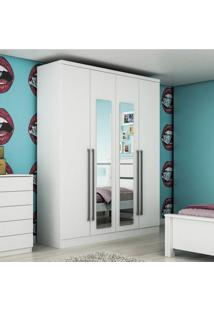 Guarda Roupa Solteiro Com Espelho 4 Portas Celenium Tcil Móveis Neve