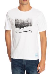 T-Shirt Ckj Masc Mc Andy Warhol Landscap - Branco - P