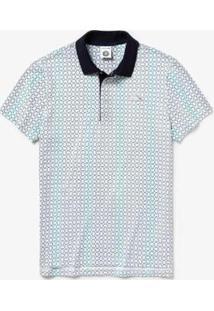 Camisa Polo Lacoste Sport Masculina - Masculino-Branco+Marinho