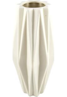 Vaso Em Relevo- Branco- 20,3Xã˜9Cm- Btc Decorbtc Decor