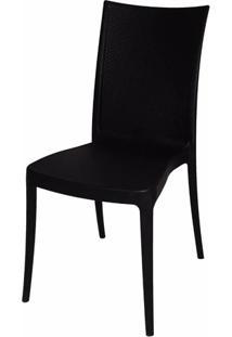 Cadeira Laura Fibra De Vidro Cor Preto