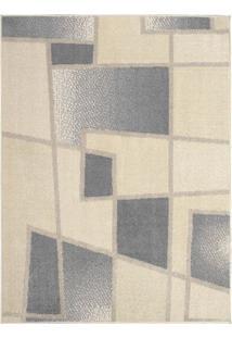 Tapete Art Design- Cinza & Off White- 100X50Cm- Tapete São Carlos